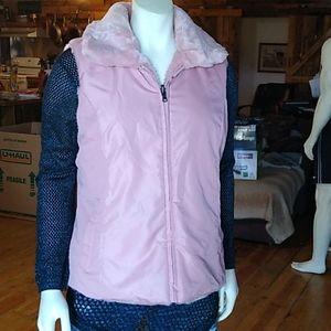 Liz Claiborne Reversible Pink Vest Size L